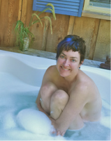 Bathing on Salt Spring Island